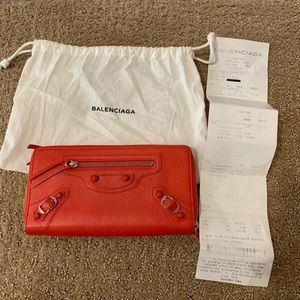 Balenciaga Wallet purse long wallet orange